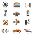 Parts of the car engine vector image vector image