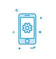 phone setting icon design vector image