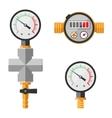 Pressure sensor manometer isolated vector image