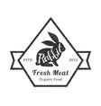 rabbit fresh meat organic premium quality retro vector image vector image