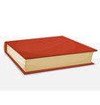 red book isolated on white vector image vector image