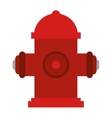 red fire hydrant fire fighting vector image