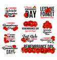 remembrance day red poppy flower icon design vector image vector image