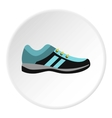 Running shoe icon flat style vector image vector image