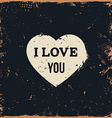 Rustic Love Heart with Text vector image vector image