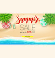 sale summer offer get up to fifty percent vector image vector image
