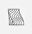 salmon steak line icon red fish slice vector image