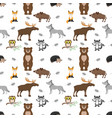 seamless pattern with animals vector image vector image