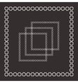 Set of intricate frames vector image