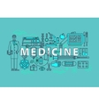 Set of medical icons or medicine items vector image vector image