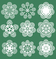 Set of Oriental pattern with arabesque and floral vector image