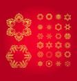 snowflake christmas icons vector image vector image
