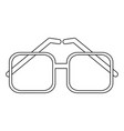 square frame glasses icon image vector image vector image