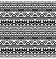 striped ethnic pattern in black and white vector image vector image