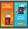 summer travel and tourism service banner vecrtical vector image vector image