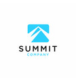 summit icon of mountain vector image vector image