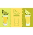 tequila shot drink vector image vector image