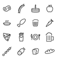 thin line icons - food vector image