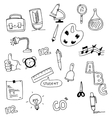 Tools education doodle set vector image