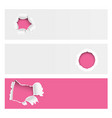 torn edges hole lacerated ragged paper edge vector image vector image