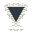 triangle decorative vintage frame icon vector image vector image