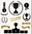 trophy icon collection vector image vector image