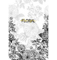 wild flowers blossom branch border with seamless vector image vector image