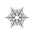 winter snowflake line icon concept winter vector image vector image