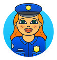 woman police officer vector image