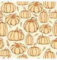 Pattern of pumpkins vector image