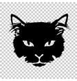 black cat silhouette tattoo vector image