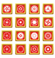 photo diaphragm icons set red vector image
