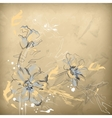 Pencil Hand Drawing Flowers vector image