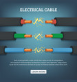 poster with cartoon of electrical vector image
