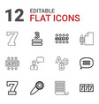 12 text icons vector image vector image
