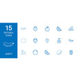 15 juicy icons vector image vector image