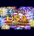4 th of july usa gold balloons united states vector image vector image