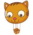 A big cat balloon vector image