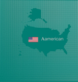 Aamerican map image was inspired by the cutting vector image vector image