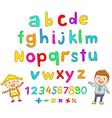 ABC for kids alphabet kids children fun vector image vector image