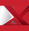 abstract design in red with gradient arrow and vector image vector image