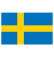 accurate correct swedish flag of sweden vector image vector image