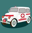 ambulance med evac retro car isometric 3d view