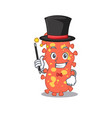 an attractive magician bacteroides cartoon design vector image vector image