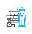 assistant construction worker thin line vector image
