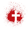bloody cross vector image vector image