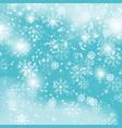 blue snowflake backgroundchristmas snowfall vector image vector image
