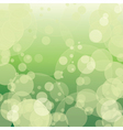 Colorful green bokeh with circles