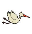 crane or stork icon image vector image