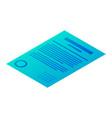 customer report icon isometric style vector image